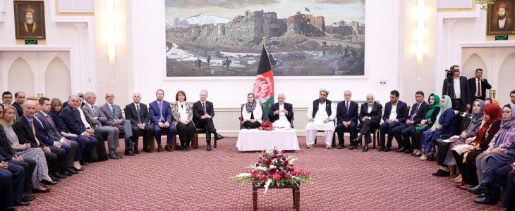 اشرف غنی 3 - تجلیل از پنجاهمین سال روابط دپلوماتیک افغانستان و آسترالیا در ارگ ریاست جمهوری