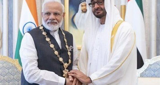 امارات هند 550x295 - لغو سفر رییس سنای پاکستان به امارات در اعتراض به تقدیر از مودی