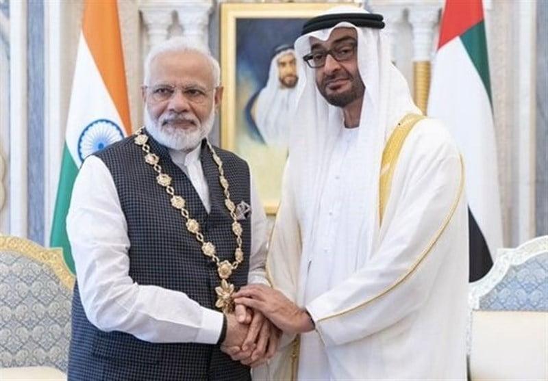 امارات هند - لغو سفر رییس سنای پاکستان به امارات در اعتراض به تقدیر از مودی