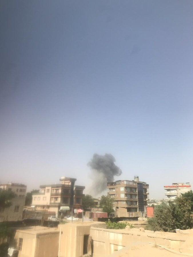 انفجار کابل 1 - انفجار در نزدیکی پل سوخته شهر کابل به روایت تصاویر