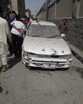 انفجار کابل 16 - انفجار در نزدیکی پل سوخته شهر کابل به روایت تصاویر