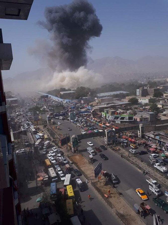 انفجار کابل 8 - انفجار در نزدیکی پل سوخته شهر کابل به روایت تصاویر