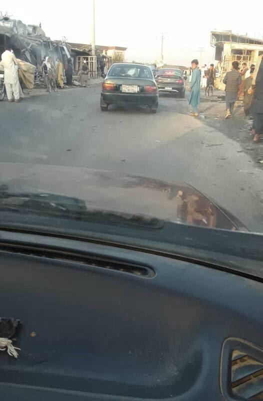 بگرام3 - تصاویر/ حمله طالبان بالای کاروان عساکر امریکایی