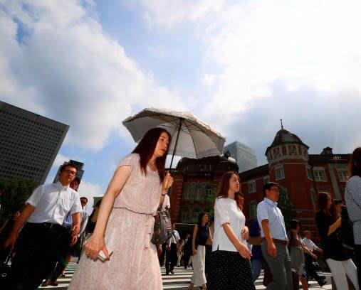 جاپان گرما 3 - تصاویر/ تلفات باشنده گان جاپان بر اثر گرما