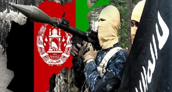 داعش 550x295 - نقش خارجی ها در ظهور گروههای تروریستی در افغانستان