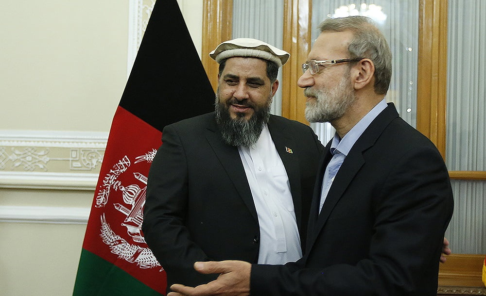 فضل هادی مسلمیار علی لاریجانی - تصاویر/ دیدار رییس مشرانوجرگه با رییس پارلمان ایران