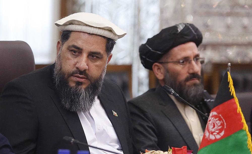 فضل هادی مسلمیار علی لاریجانی2 - تصاویر/ دیدار رییس مشرانوجرگه با رییس پارلمان ایران