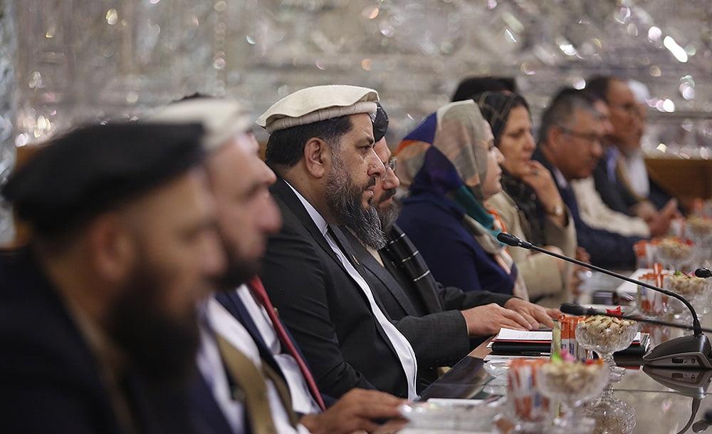فضل هادی مسلمیار علی لاریجانی4 - تصاویر/ دیدار رییس مشرانوجرگه با رییس پارلمان ایران