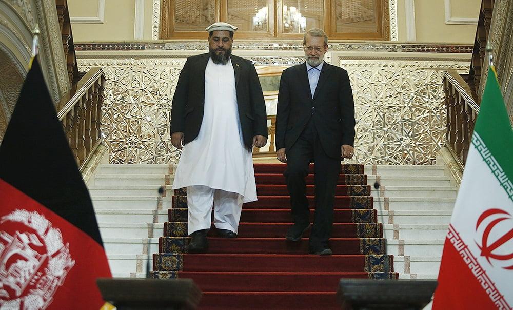 فضل هادی مسلمیار علی لاریجانی6 - تصاویر/ دیدار رییس مشرانوجرگه با رییس پارلمان ایران