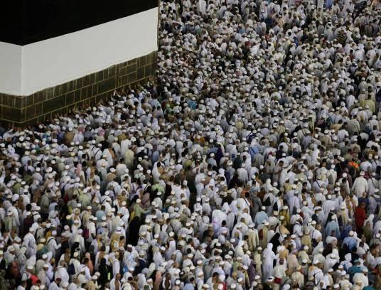 مکه10 - تصاویری زیبا از حضور حاجیان در مکه