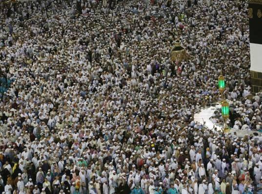 مکه13 - تصاویری زیبا از حضور حاجیان در مکه