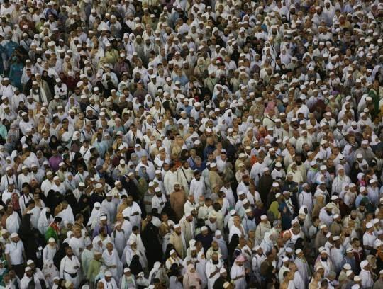 مکه9 - تصاویری زیبا از حضور حاجیان در مکه
