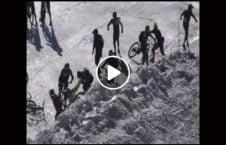 ویدیو تصادف بایسکل کوه برف 226x145 - ویدیو/ تصادف بایسکل سواران در کوههای پوشیده از برف