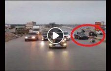 ویدیو توقف موترسایکل شاهراه 226x145 - ویدیو/ عاقبت توقف نابجای موترسایکل در شاهراه