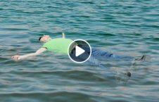 ویدیو زنده جسد شناور آب 226x145 - ویدیو/ لحظه زنده شدن جسد شناور روی آب
