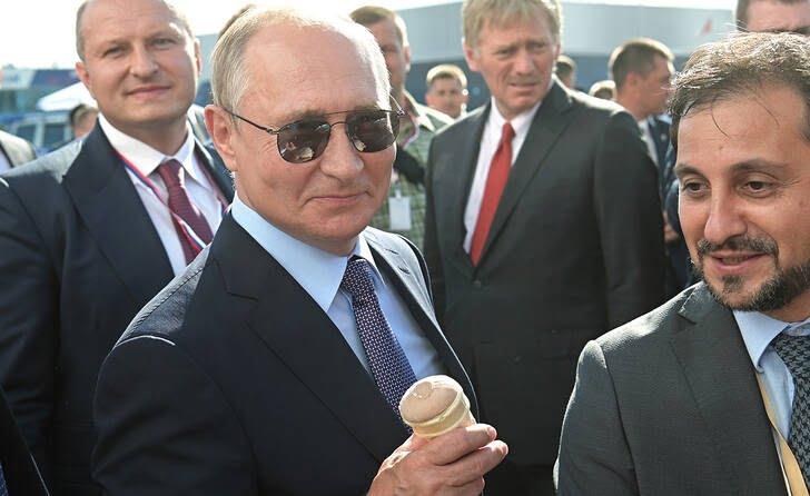 پوتین و اردوغان آیسکریم 1 - تصاویر/ آیسکریم خوردن پوتین و اردوغان