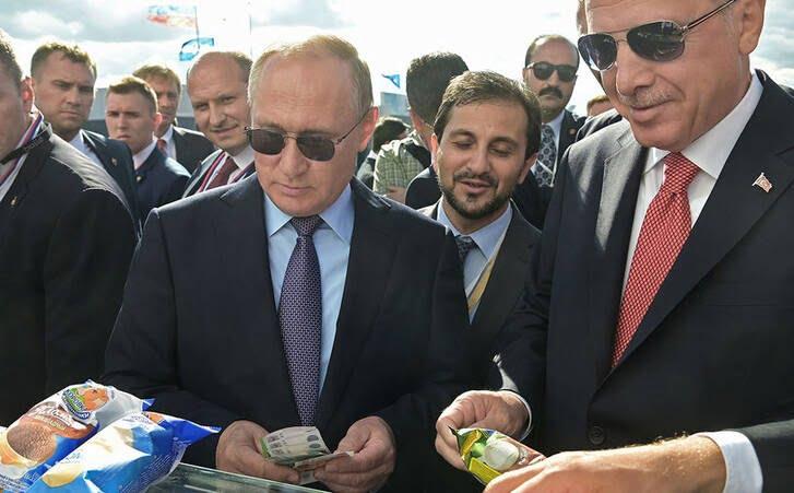 پوتین و اردوغان آیسکریم 2 - تصاویر/ آیسکریم خوردن پوتین و اردوغان