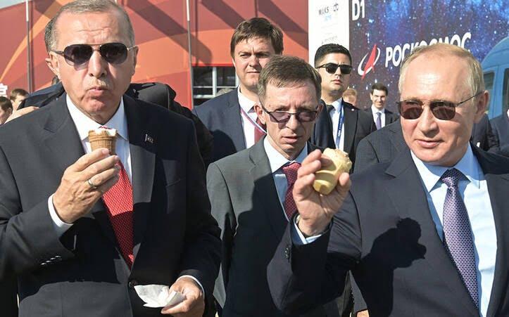 پوتین و اردوغان آیسکریم 3 - تصاویر/ آیسکریم خوردن پوتین و اردوغان