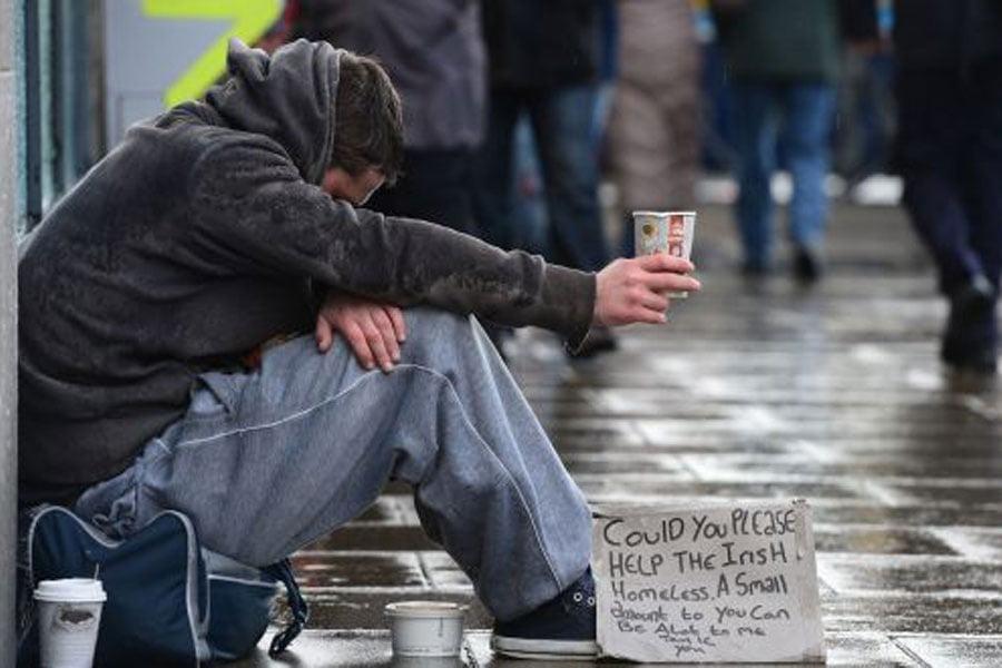 بی خانمان - افزایش شمار بی خانمان ها در بریتانیا