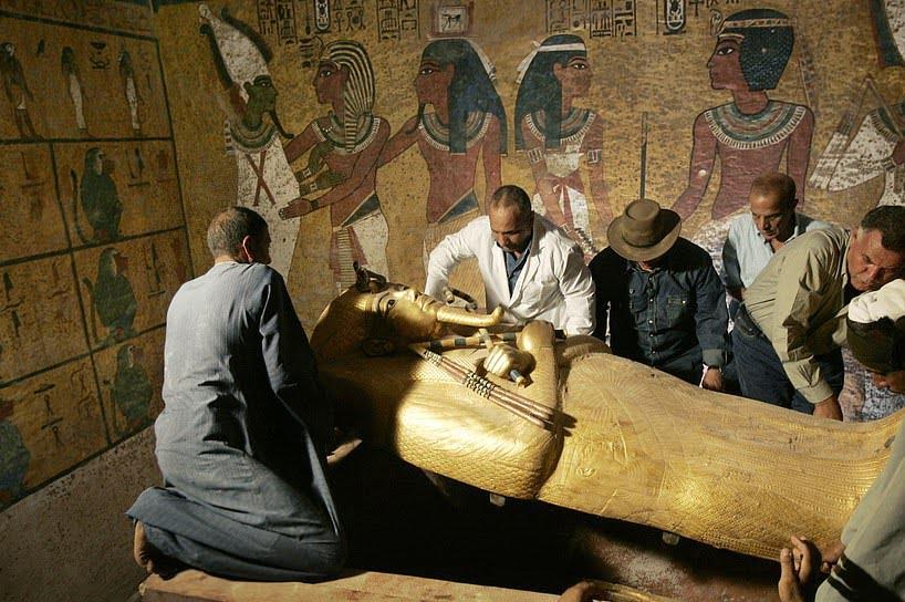تابوت طلایی 1 - تصاویر/ تابوت طلایی فرعون