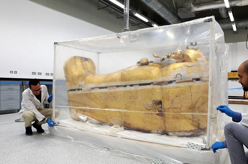 تابوت طلایی 10 - تصاویر/ تابوت طلایی فرعون