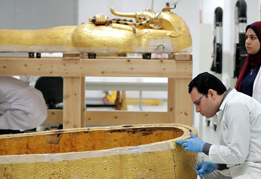 تابوت طلایی 5 - تصاویر/ تابوت طلایی فرعون