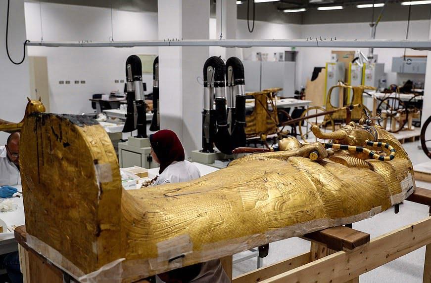 تابوت طلایی 6 - تصاویر/ تابوت طلایی فرعون