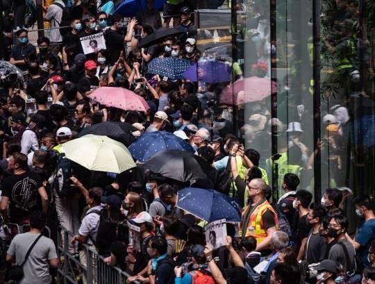 تظاهرات در هانگکانگ 4 - تصاویر/ تظاهرات در هانگکانگ با بیرق امریکا
