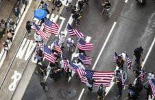 تظاهرات در هانگکانگ 6 226x145 - تصاویر/ تظاهرات در هانگکانگ با بیرق امریکا