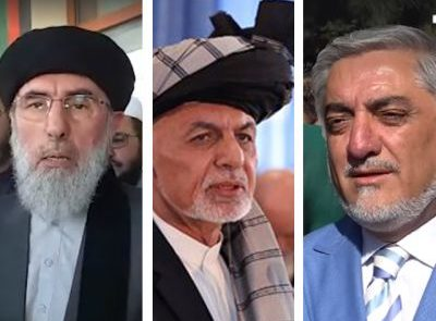 حکمتیار غنی عبدالله 400x295 - اتهام زنی حکمتیار به رهبران حکومت
