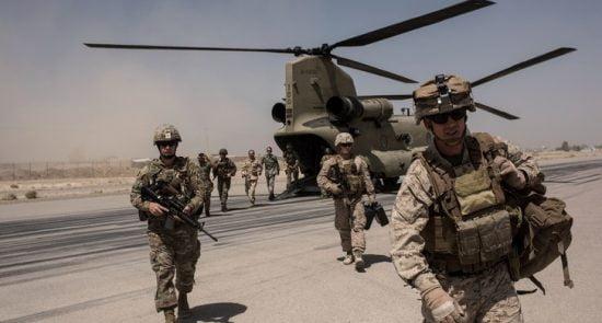 عسکر امریکا 550x295 - حضور مخفیانه استخبارات ایالات متحده در کشور پس از صلح