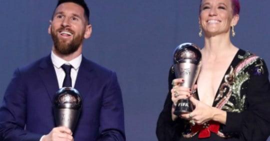 مسی - انتخاب لیونل مسی به حیث بازیکن برتر سال ۲۰۱۹