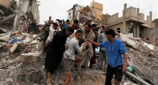 یمن 550x295 - افزایش شمار قربانیان جنایت عربستان در ولایت الجوف یمن