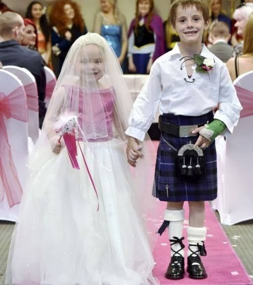 ازدواج دختر سرطان 2 - دختری که با پسر 6 ساله ازدواج کرد