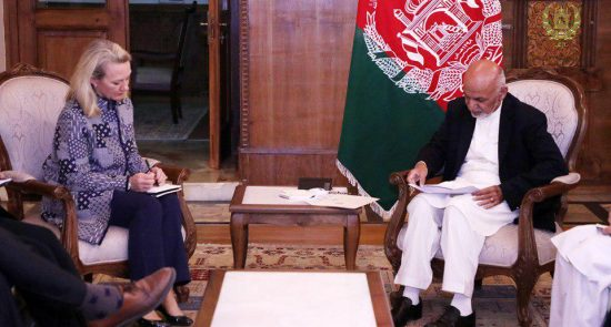 اشرف غنی الیس ویلز 550x295 - دیدار رییس جمهور غنی با معاون وزیر امور خارجه ایالات متحده امریکا