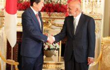 اشرف غنی شینزو آبه 226x145 - دیدار رییس جمهور غنی با صدراعظم جاپان