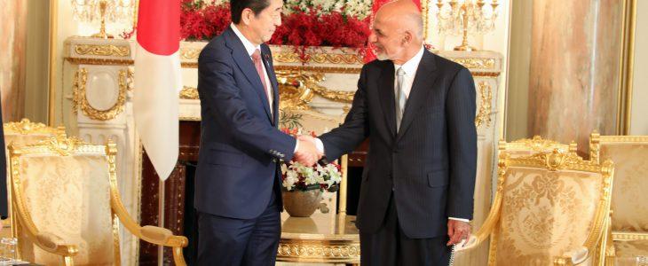 اشرف غنی شینزو آبه - دیدار رییس جمهور غنی با صدراعظم جاپان
