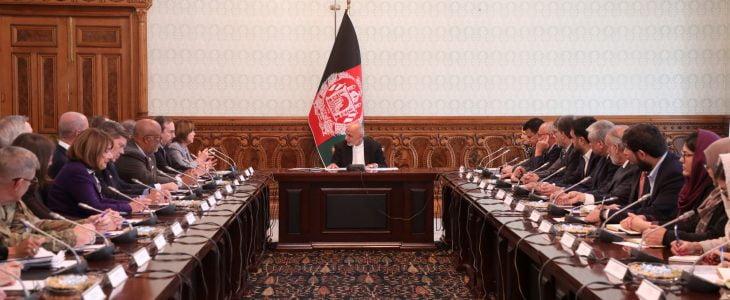 اشرف غنی نانسی پلوسی - قدردانی رییس جمهور غنی از حمایت های ایالات متحدۀ امریکا به افغانستان