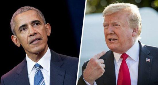 ترمپ اوباما 550x295 - ترمپ: اوباما قاتل یک ملیون انسان می باشد!