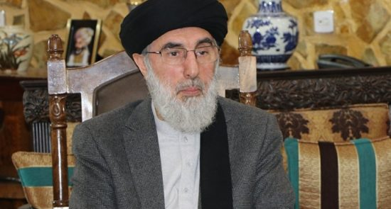 حکمتیار 550x295 - تاکید گلبدین حکمتیار بر تشکیل حکومت موقت در افغانستان