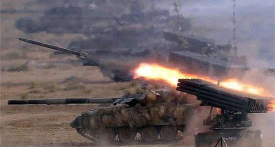 راکت 550x295 - واکنش ارگ به حملات راکتی پاکستان بر خاک افغانستان