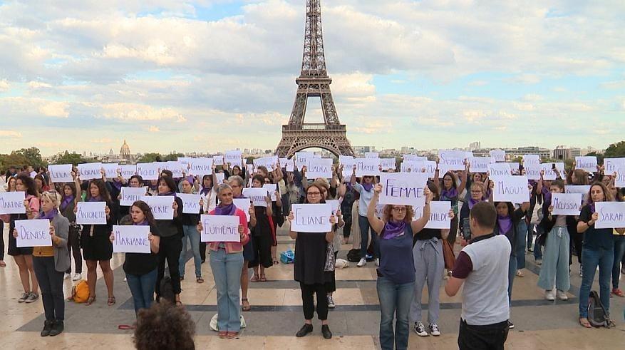 زنان فرانسه 2 - افزایش ۵۳ فیصدی خشونت جنسی بالای زنان در فرانسه + تصاویر
