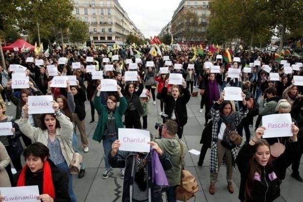 زنان فرانسه 3 - افزایش ۵۳ فیصدی خشونت جنسی بالای زنان در فرانسه + تصاویر