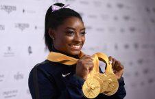 سیمونه بایلز 1 226x145 - تصاویر/ پرافتخارترین جمناست مسابقات جهانی