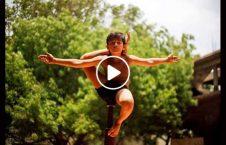 طفل هند جمناستیکl 226x145 - ویدیو/ استعداد عجیب طفل هندی در حرکات جمناستیک