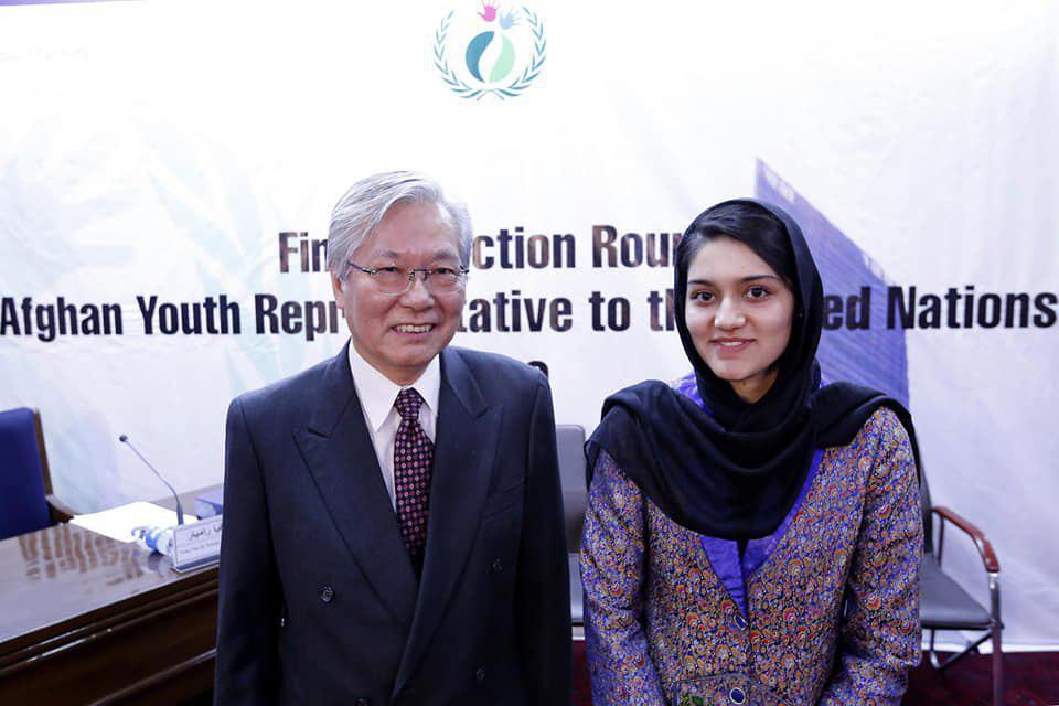 عایشه خرم3 - انتخاب یک بانو به حیث نماینده جوانان افغانستان در ملل متحد