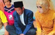 عروس اندونزیا 226x145 - دخترجوانی که عاشق پیرمرد 83 ساله شد