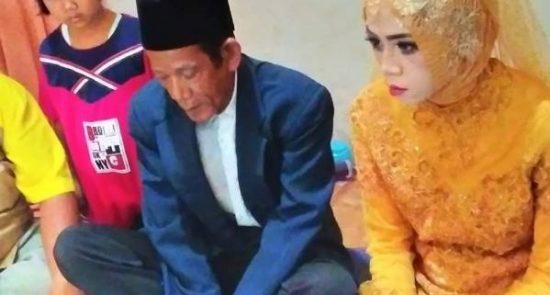 عروس اندونزیا 550x295 - دخترجوانی که عاشق پیرمرد 83 ساله شد