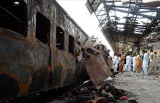 قطار پاکستان 226x145 - قطار مرگ در پاکستان جان دهها تن را گرفت