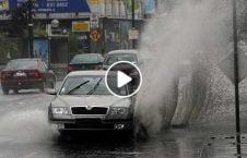 ویدیو مردم آزار زیر باران 226x145 - ویدیو/ مردم آزاری در زیر باران